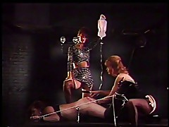 Lesbian threeosme in the BDSM action