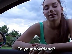 Wonderful outdoor sex with teen Jenny