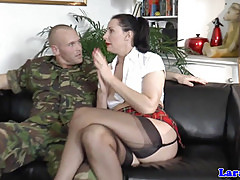 Rich brit mature spoils soldier
