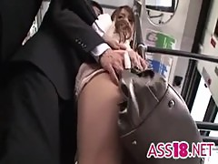Perverted Stalkers - Office girl Rio groped on a bus - ass18.net