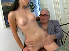 Simona's first-ever time blowjob onto her tricky old lecturer