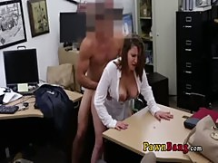 Wild Amature Milf Blowing The PawnShop Owner