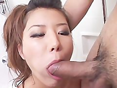 avmost.com Sexy amateur babe gives sensuous blowjob in the shower
