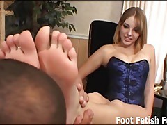 Worship my feet before I give you a footjob