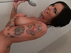 Tattooed girl asshole ripping try out