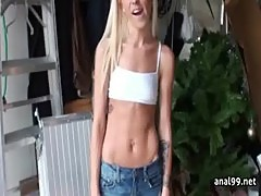 Sexy teen girl explores the joy of anal sex