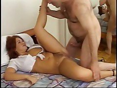 Sexy tramp getting fucked and jizzed on
