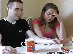 Stranger takes off his trunks and begins