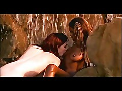 Lesbian interracial under waterfall (from 7lives xposed)