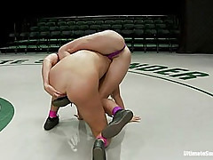 Two buff athletes wrestle it out to see who gets to brutally fuck and humiliate the other.