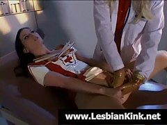 Lesbian nurse gets pussy fisted