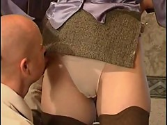 NastyPlace.org - Mother in mini skirt fucked from behind by bald son
