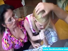 Spex mom and teen sharing hard dick