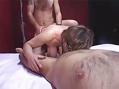 Hairy saggy mature anal groupsex
