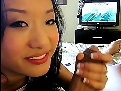 Tiny asian GF Alina Li sucks and fucked