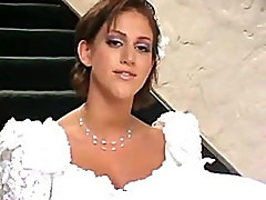 Bride And Her Lesbian Friend Having Sex With Man