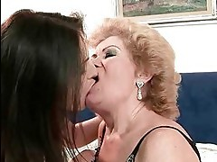 Grannies and Teens Kissign and Licking Compilation