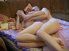 NastyPlace.org - She sucked daddy's dick in the showers and fucks him on the bed