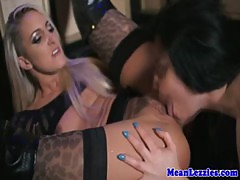Lezdom mistress ruling over tight pussy
