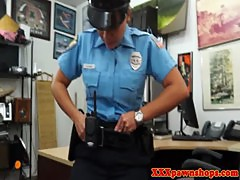 Real cop flashes tits to pawnbroker for cash