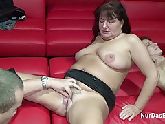 German Granny get fucked in Gangbang in SwingerClub