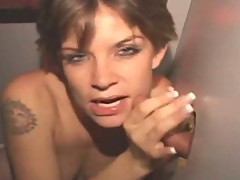Wild Brunette Amateur Sucking Dick At A Glory Hole